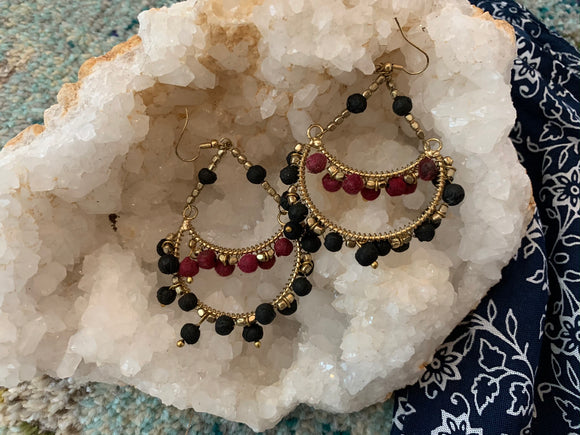 Crimson Evening Earrings