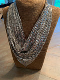 Mesh and Metal Slinky Necklace
