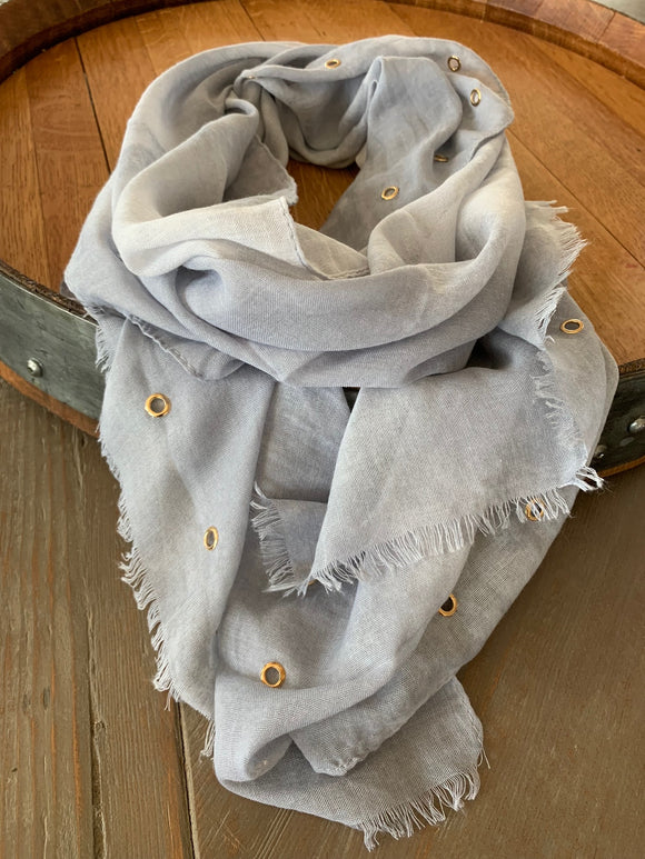 Rivet Scarf (Grey)