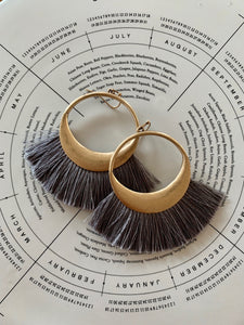 Fringe Benefits Earrings (Grey)