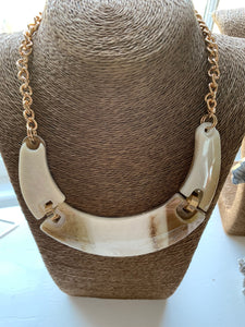 "Horn Of ""Piece"" Necklace"