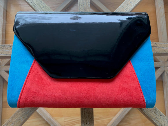 Mod Color Block Clutch (Black)