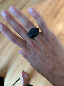 Pavé Snowball Ring (Midnight Shine)