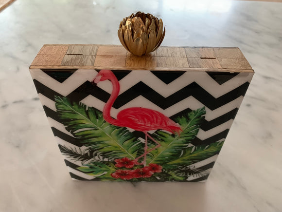 Lotus Bird Clutch Collection (Flamingo)