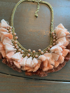 Full Tassels and Beads Necklace