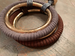 Suede Wrapped Full Circle Necklace