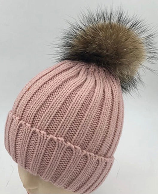 Knit Puff Hat