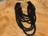 Wooden Marble Strands Necklace