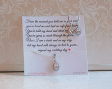 Beautiful cubic zirconia earrings and necklace set for mother of the bride