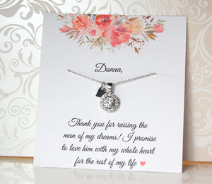 cubic zirconia necklace for mother of the groom