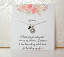 personalized future mother in law card with necklace