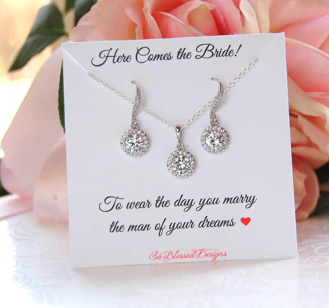 Here comes the bride jewelry set