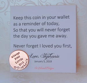 Father of the Bride keepsake coin