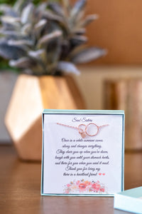 soul sisters gift card and necklace