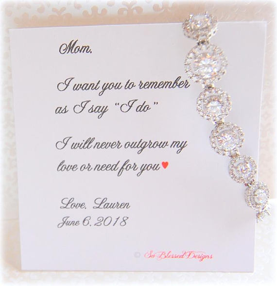 Cubic Zirconia Bridal Bracelet for Mother of the Bride gift