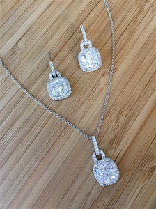 CZ necklace and earrings for Bridesmaid Gifts
