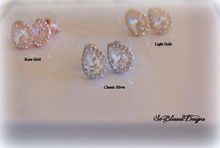 cubic zirconia earrings in silver gold and rose gold