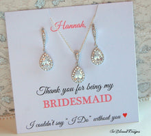 Bridesmaid Earrings & Necklace Set - So Blessed Designs