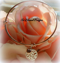 rose gold family tree bracelet