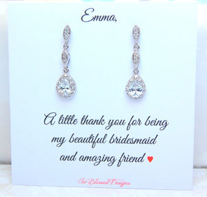 bridesmaid gift earrings