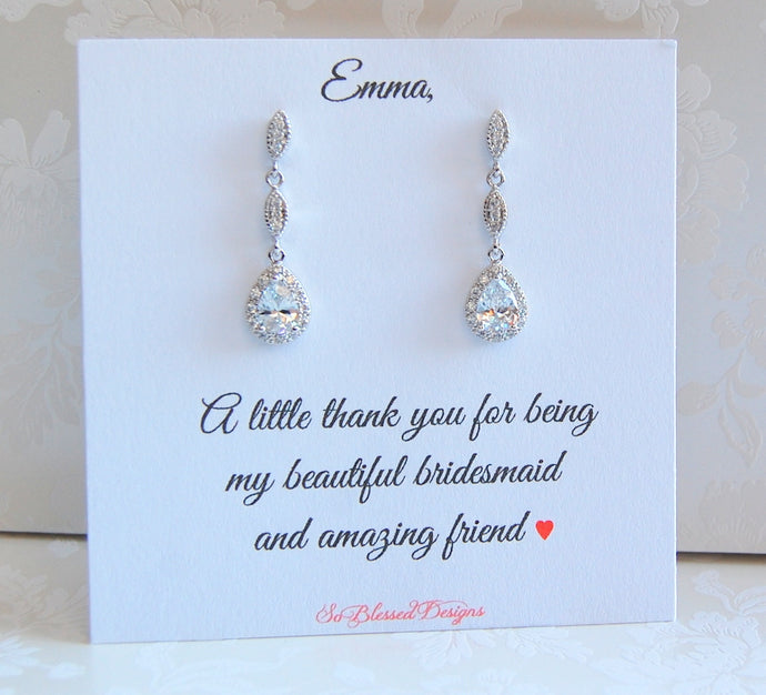stunning bridesmaid earrings for all your bridesmaids
