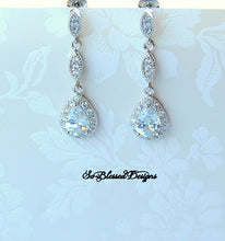 long drop bridesmaid earrings