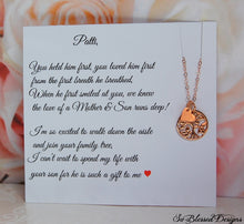 Rose Gold Family Tree Necklace for gifts for mother of the groom mother of the bride