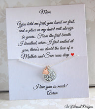 sterling silver and rose gold family tree necklace for mom