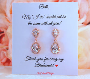 My I do wouldnt be the same without you bridesmaid card