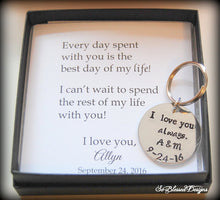 I love you always personalized keychain for groom from bride