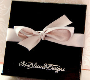 Black So Blessed Designs gift box with bow