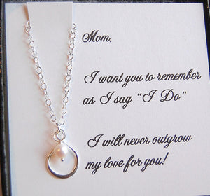 Sterling silver & Pearl Mother of the Bride Necklace - So Blessed Designs