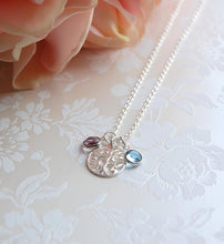 Family tree necklace for mother of the groom