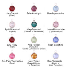 birthstone chart for mother of the groom necklace