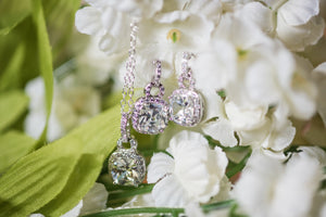 set of CZ earrings necklace matching sets