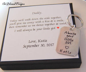 Personalized Always your little girl with custom Today we'll walk down the aisle together card