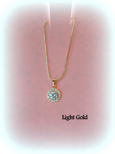 Gold solitaire cz necklace for mother of the bride mother of the groom