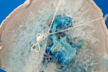 Gorgeous silver and pearl heart infinity necklace