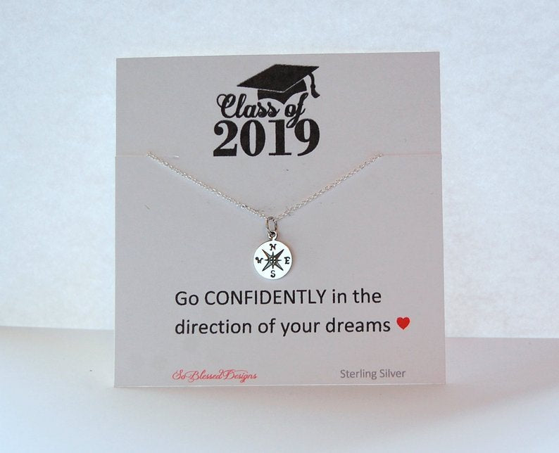 Class of 2019 Graduation card and necklace