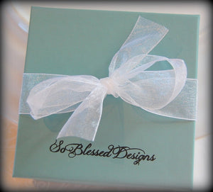 So Blessed Designs gift box for mother of groom earrings