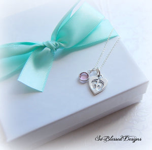 new baby footprints necklace
