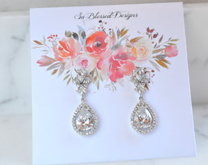 Stunning long bridal earrings