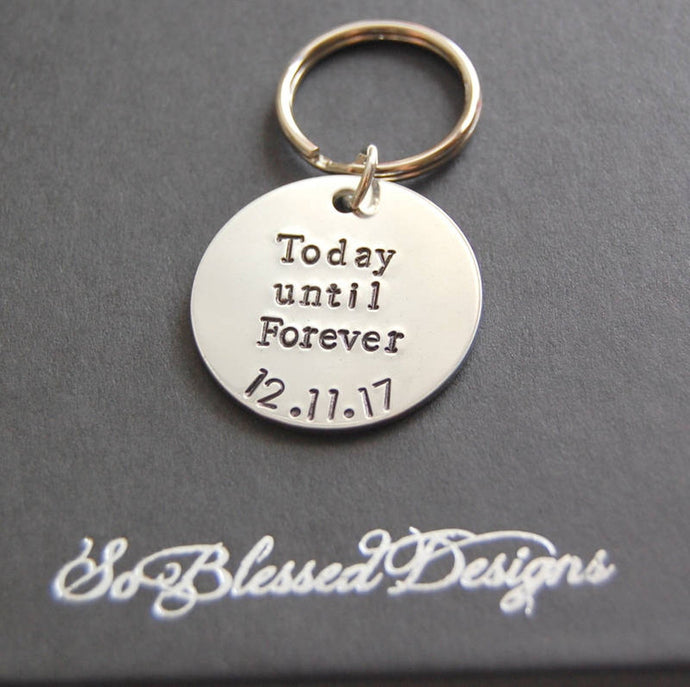 Today until Forever grooms keychain