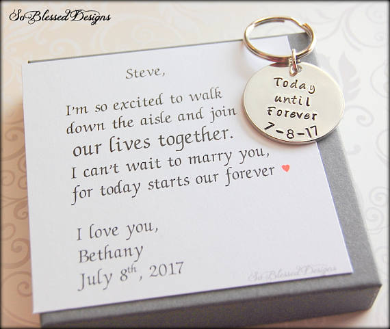 Today until forever Groom Keychain - So Blessed Designs