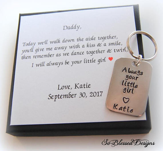 Always your little girl keychain for father of the bride