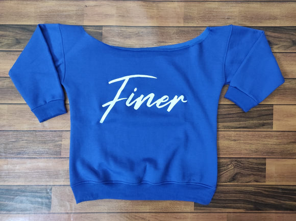 Finer Off The Shoulder Sweatshirt (Top Only) Pre Sale Jan 31st