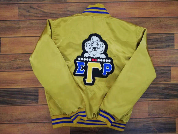 Poodle Satin Jacket Gold