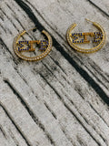 Hoop Sigma Gamma Rho Earrings