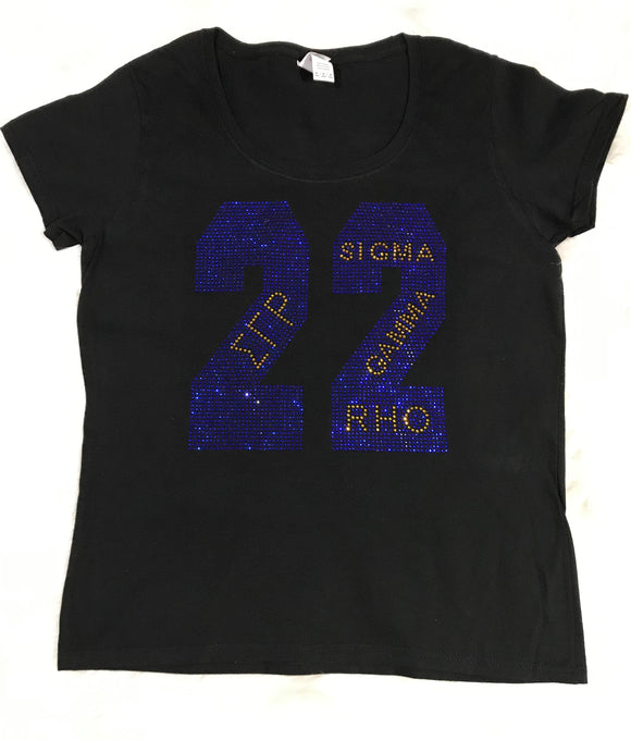 Rhinestone 22 SGRHO Scoop Neck Top
