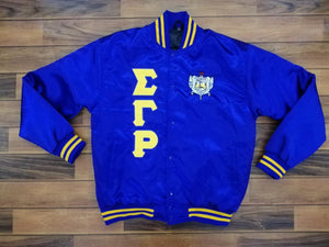 Poodle Satin Jacket  Royal Blue